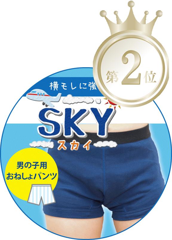 男の子用 吸水量で選ぶ おねしょ パンツ ランキング 2位 SKY