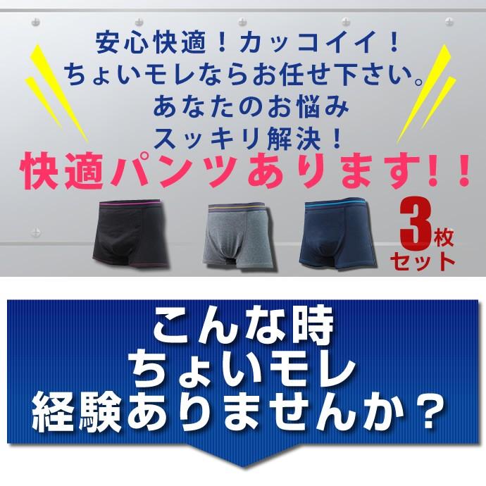 快適尿モレパンツ 男性用尿漏れパンツ【TS5008】